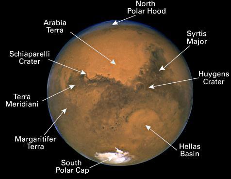 Cada vez mais distante Mars_hubble