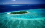 Arieal View Coral Island wallpaper