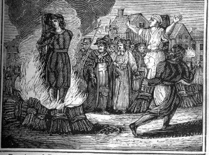 Witch burning. wikimedia commons